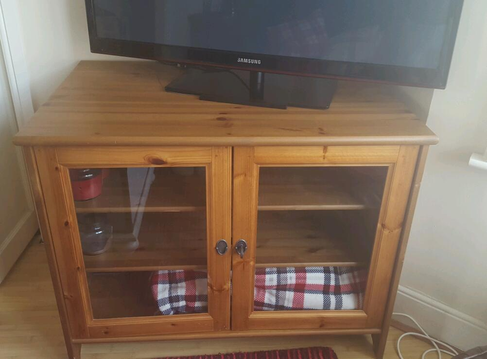 Large Wooden Tv Cabinet With Glad Doors And Lock In Chatham Kent