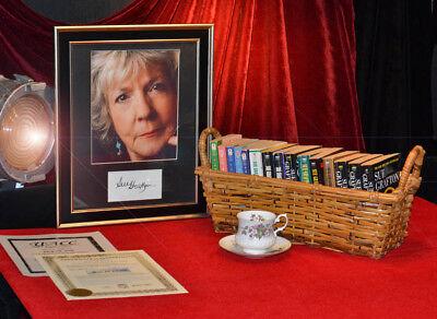 Signed SUE GRAFTON Framed Autograph & BOOK COLLECTION, Tea Cup, COA, UACC #228
