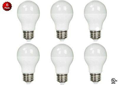 - 6 Pack - LED 100 Watt Equivalent 100W 3000K A19 Warm White Light Bulb 12W UL