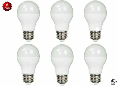 - 6 Pack- LED 100 Watt Equivalent 5000K 100W A19 Daylight White Light Bulb 11W UL