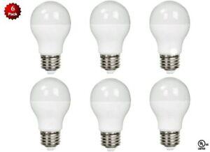 6 Pack- LED 100 Watt Equivalent 5000K 100W A19 Daylight White Light Bulb 11W UL