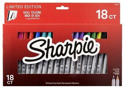Sharpie 18pc Limited Fine Point Permanent Magic Marker Pens Box Set Easel Nib