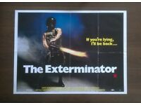 the exterminator ' original cinema poster