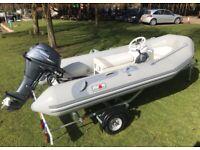 Hypalon Avon 5 Man rigid inflatable boat RIB 20hp Yamaha Power tilt outboard Yacht tender family rib for sale  Stratford-upon-Avon, Warwickshire