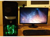 Powerful gaming computer INTEL i5 4 x 3.2GHz GeForce GTX 580 2TB HDD 8GB RAM W10 perfect condition!