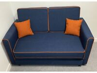 Sofa bed 6 months purchased blue color never used as a bed