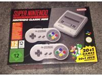Brand New Boxed unopened Nintendo SNES Mini Console.