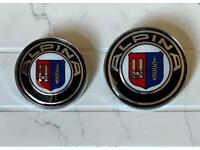 2 pcs badge/emblem BMW Alpina