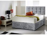EXPRESS DELIVERY Divan bed set with luxury mattress and FREE HEADBOARD