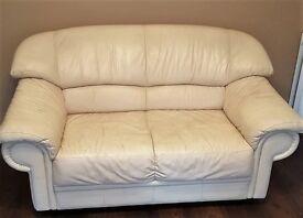 leather 2 seeter sofa