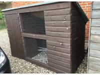 Dog Kennel with Run 8x4