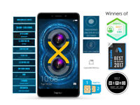 Honor 6X 5.5 Inch FULL HD UK SIM-Free Smartphone - Grey, BRAND NEW BOX (SEALED)