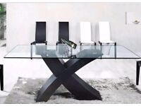 Brand new Glass dining table modern 2 m x 1m