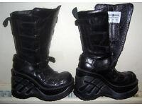 New Rock Boots Goth / Biker Ladies Size 4 Excellent Condition