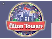 ALTON TOWERS TICKETS X 2 - BOTH:£39