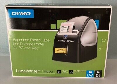 Dymo 1752267 Labelwriter 450 Duo Thermal Label Printer New Open Box Free Ship