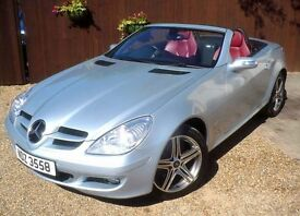 MERCEDES BENZ SLK 200 1.8 KOMPRESSOR # EDITION 10 # RED LEATHER INTERIOR # FULL SERVICE HISTORY #