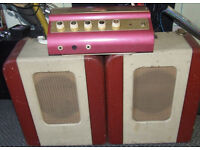 """ENSA FESTIVAL"" Vintage Grampian valve amp. public address system/GUITAR AMP Complete but NOTworking"