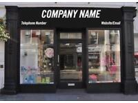SHOP FASCIA/WINDOW SIGNS SHOP SIGNAGE YOUR CHOICE OF DESIGN VINYL BUSINESS SIGN