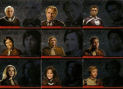 Battlestar Galactica Complete Full 9 Card Colonial Warriors Chase Set ~ New