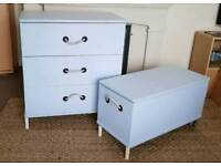 Chest of drawers and storage/toy chest