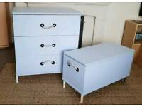 Chest of drawers and storage chest