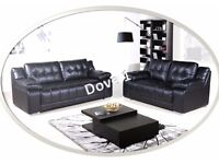 *SPECIAL OFFER* - DOVE 3+2 SEATER –FREE DELIVERY - AVAILABLE IN BLACK/BROWN/RED - WAS £999