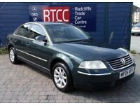 2004 (04), Volkswagen Passat 1.9 TDI PD Highline Plus 5dr Estate, AA COVER & AU WARRANTY, £1,995 ono