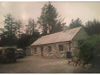 COTTAGE for renovation on circa 1.5 acres in rural IRELAND, near Derrybrien, Galway
