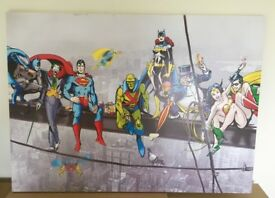 DC Comics Super Heroes on a Girder Canvas Print