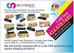Sell your Surplus toner cartridges and Printing supplies for Top Dollars