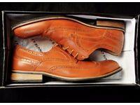 Mens Route 21 - Burnish Tan - Eyelet - Brogue shoes - UK Size 11