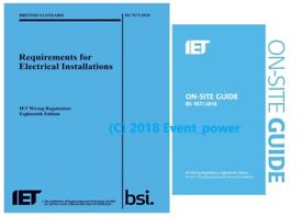 BS7671 18th Ed & On-Site Guide books NEW