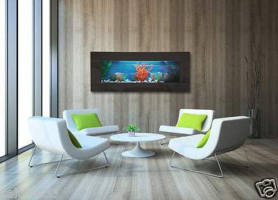 3FT 900mm NEW INTERIOR DESIGNER ARTISTIC WALL PLASMA AQUARIUM FISH TANK LIVE ART