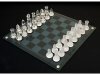 Glass Chess Set Board Game