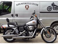 FANTASTIC 2001 HARLEY DAVIDSON FXDWG DYNA WIDE GLIDE WITH CHROME EXTRAS