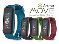 Archon Move Fitness Tracker Wristband with HR monitor - Red