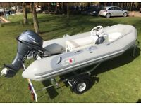 Avon 5man Hypalon RIB Rigid inflatable boat 20hp BEPL Yamaha four stroke Outboard brand new trailer
