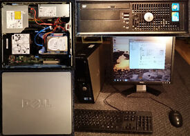 "Dual core desktop PC. Intel 2.93GHz CPU. 8GB DDRIII RAM. 250Gb Hard disk. 20"" (1600x1200) monitor."