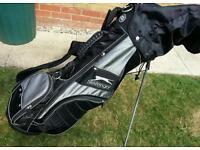 Slazenger Golf bag with mixture of clubs