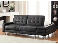 Faux Leather Sofa Bed and storage