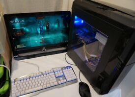 Gaming PC with Monitor, Mouse and Keyboard