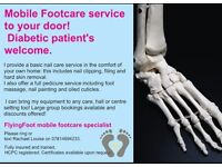 Mobile Toenail cutting and hard skin removal including diabetic patients. All welcome.