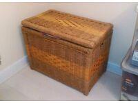 Wicker basket, storage box