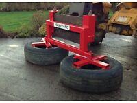Silage pusher, twin wheel adjustable width (Sullivans Engineering)