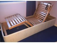 Adjustable beds 2 x singles with massage mattress. £150 per single bed