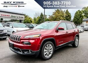 2017 Jeep Cherokee LIMITED, GPS NAV, HTD LEATHER, REMOTE START,