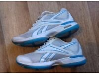 Ladies blue/white reebok trainers