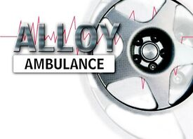 Mobile alloy wheel repair technician