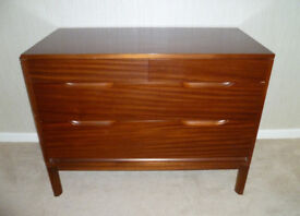 Chest of Drawers: Duff's of Lisburn, solid wood
